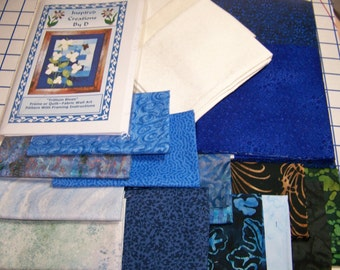 Trillium Blues Art Quilt-Muster-Kit