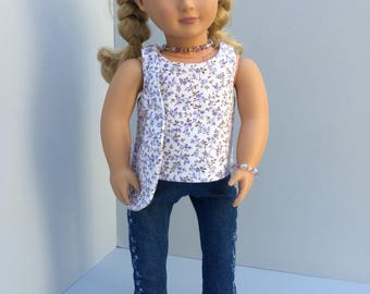 Embroidered Jean Ensemble for American Girl Doll