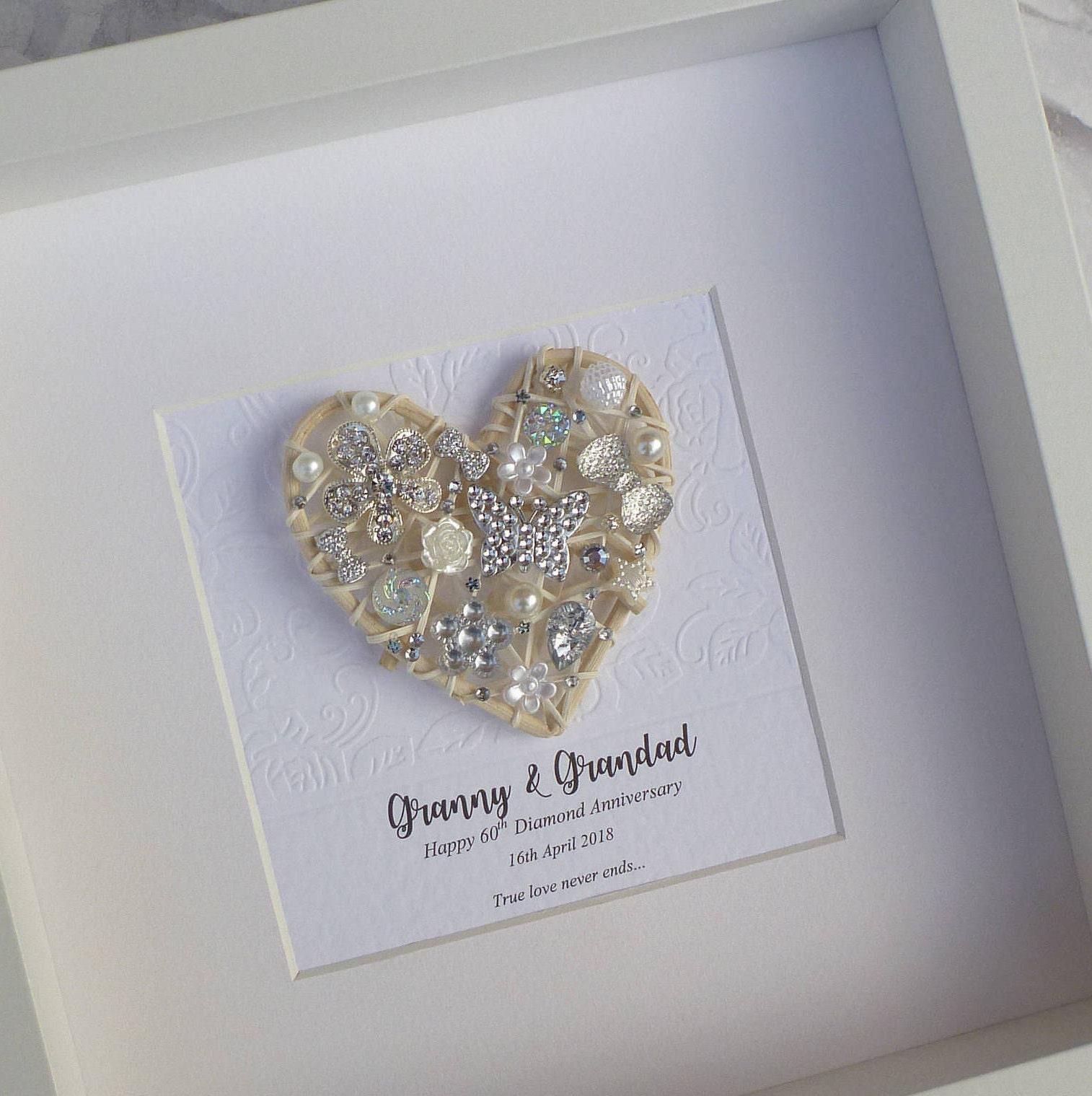 Diamond Anniversary gift, 60th Wedding Anniversary gift, 60th ...