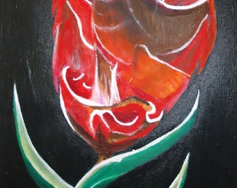 illistrative original painting Tulip
