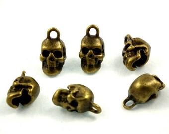 Antique skull ♥X6 bronze♥