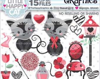 Cat Clipart, 80%OFF, Cat Graphic, COMMERCIAL USE, Cat Party, Planner Accessories, Black Cat Clipart, Cute Cat, Fancy Cat, Animal Clipart