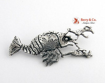 SaLe! sALe! Sterling Lobster Pendant