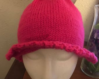 Hot pink knit cap