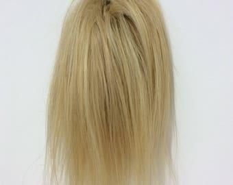 blonde human hair scrunchie (24) 10 inches 41 g