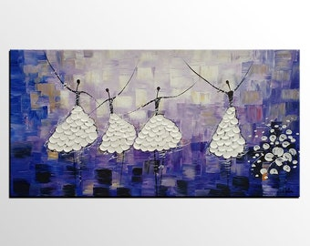 Abstract Art Painting, Canvas Art, Bedroom Wall Art, Dancing Painting, Canvas Painting, Ballet Dancers, Abstract Painting, Acrylic Painting
