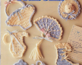 Crochet Victorian Fridgies,  Fridge magnets, Annies Attic 8B075