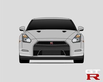 Nissan GT R Poster // Nissan Skyline // R35 // Nissan Print