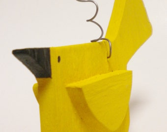 Yellow Bird Ornament - Made To Order, Primitive Ornaments, Christmas Decor