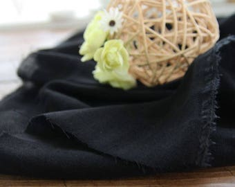Double Gauze Fabric Black By The Yard