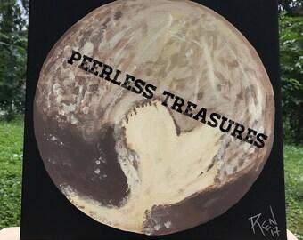 Pluto Painting - Original Painting - Pluto Art - Planet Painting - Acrylic Painting - Pluto - Painting - Celestial - Space - Night Sky