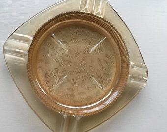 Floragold Louisa Carnival Glass Ashtray