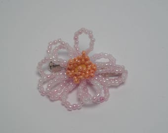 Gerbera flower brooch rose