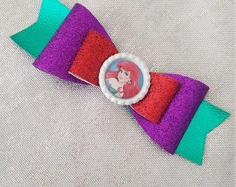 Ariel Little Mermaid Hair Bow