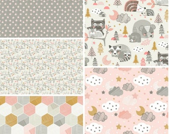Sweet Dreams Pink Fat Quarter Bundle by Maude Asbury for Blend Fabrics