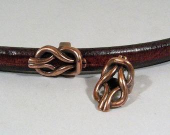 Regaliz Knot Spacers - Antique Copper - SP9 - Choose Your Quantity