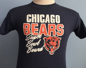 80s Vintage Chicago Bears 1985 Super Bowl XX Bound 1986 nfl football T-Shirt - SMALL