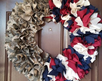 Red, white and blue /Army Uniform wreath