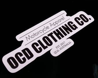 OCD CLOTHING CO. Vinyl Decal/Sticker/Small/Indoor/Outdoor/Motorcycles/Riders/Australian Made