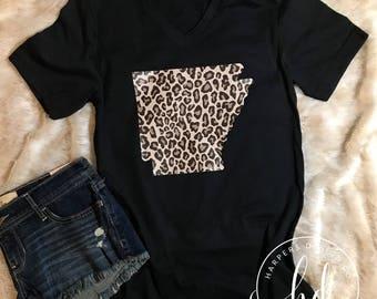 Arkansas Shirt • Leopard  Print •
