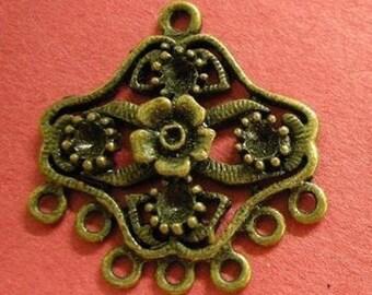 6pc antique bronze finish fancy  chandelier connector-1723