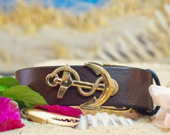 Anchor Sailing Leather Belt