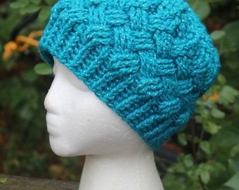 Made to order crochet lattice hat:  Custom colors; Teen/Adult