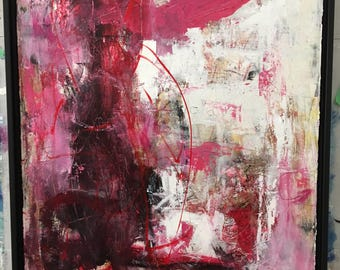 Red, Pink Abstract Art/Painting Contemporary