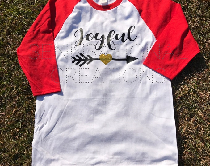 Christmas Shirts, Christmas Saying Shirts, Holiday Shirts, Joyful Shirt, Joyful Arrow Shirt