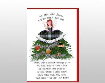 Christmas Tartan Fairy Card WWXM108