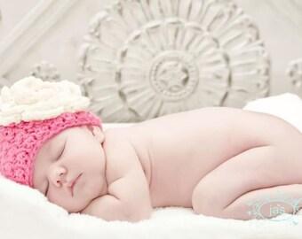 Crochet Newborn Baby Girl Hat
