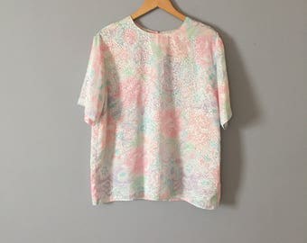 pastel slouch blouse   oversized top