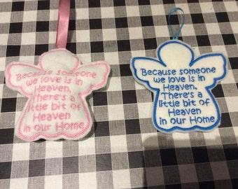 embroidery design someone in heaven , angel machine embroidery design