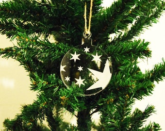 Bauble with Stars Christmas Decoration 3mm Perspex®