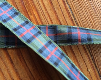 Flower of Scotland tartan ribbon. 16mm or 25mm width available. Price per metre