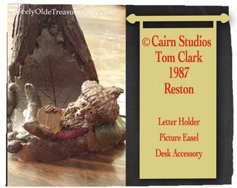 REDUCED 1987 Cairn Studios Figurine- Reston Gnome- Handcrafted Sculpture- Tom Clark Design- Retired Cairn Studio Design- Book Holder