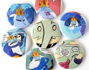 Adventure Time Comic Book Magnets Set of 7 Ice King