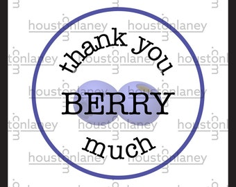 """Thank You """"Berry"""" Much (Blueberry) Thank You Tag"""