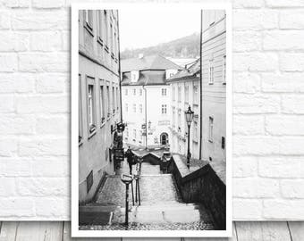 Prague Photo Print, Prague Photography, Street Print, Prague Print, Digital Photo Download, Digital Print, Printable Prague Wall Art