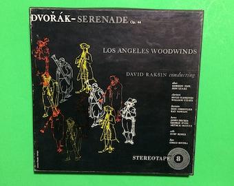 Dvorak Serenade 4 Track 7 1/2 IPS Reel to Reel Tape Los Angeles Woodwinds Vintage