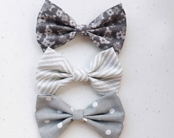 Feeling gray Bow Set for your little darling.