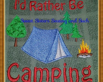 I'd rather be camping kitchen towel
