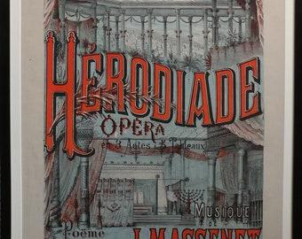 Herodiade Opera de Jules Massenet-Vintage French Poster-c1910s