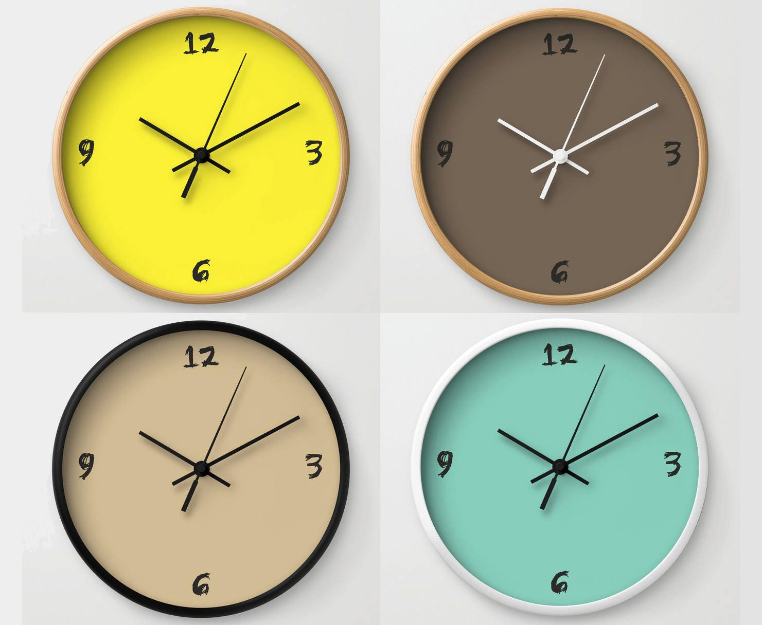 Zahlen Wanduhr Minimal Design Wanduhr moderne Uhr moderne