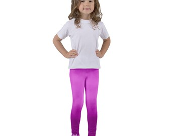 Dreaming pink purple cloud ombre leggings for kids children