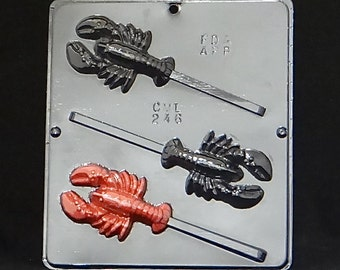 Lobster Lollipop Chocolate Candy Mold 246