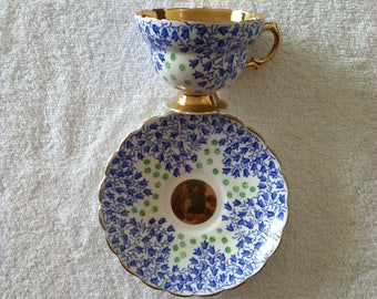 Rosina Blue Cup and Saucer
