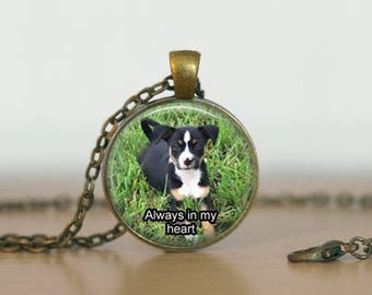 Personalized Pet Necklace, Custom Dog Pendant, Pet Photo Memories, Dog Memorial Necklace;  Custom Made Photo Necklace with your Pet Photo