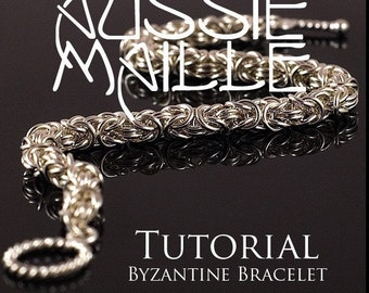 Chainmaille Tutorial - Byzantine Chain Maille Bracelet