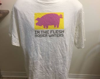 Vintage Roger Waters Pink Floyd T Shirt Size XL 1999 In the Flesh